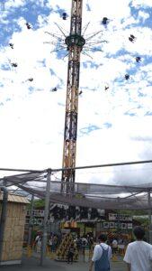 50メートルの空中ブランコ